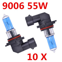 Buy Free 10X Headlight 9006 Super White 12V 55W 6000K HB4 Head Light Halogen xenon bulb lamp Car Styling Parking ford for $22.44 in AliExpress store