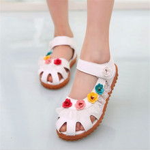 2016 New Summer Girls Sandals Mini Melissa 1-6 Years Old Girls Elsa Shoes Kids Sandals Soft Flat Shoe Sole Sandalias Sandales