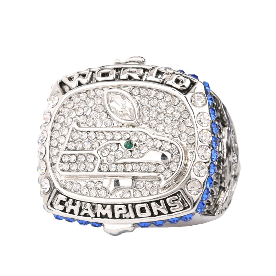 Luxury Souvenir Crystal Jewelry 2015 Rugby Cup Commemorative Ring Super Bowl Champion Rings Jewelry For Men(China (Mainland))