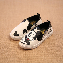 free shipping kids shoes unisex children fasnhion sneakers canvas shoes Mickey summer loafers(China (Mainland))