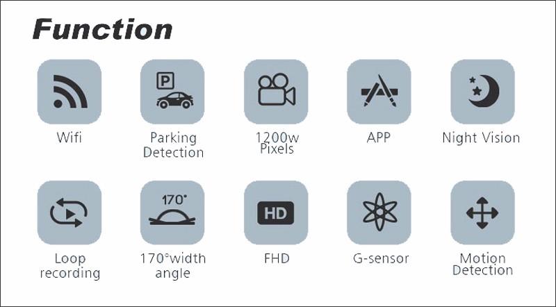 For vw touareg 2011-2016 Car DVR Car Video Recorder Hidden installation wifi HD 1080P Novatek 96655 Car black box free shipping