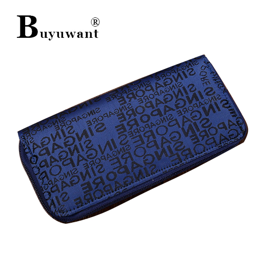 Deep blue fashion high-grade English letters graffiti printed leather gm in reliable quality ladies wallet Handbag Series(China (Mainland))