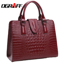 OGRAFF Genuine leather bag ladies 2017 crocodile pattern Women messenger bags handbags women famous brand designer high quality(China (Mainland))