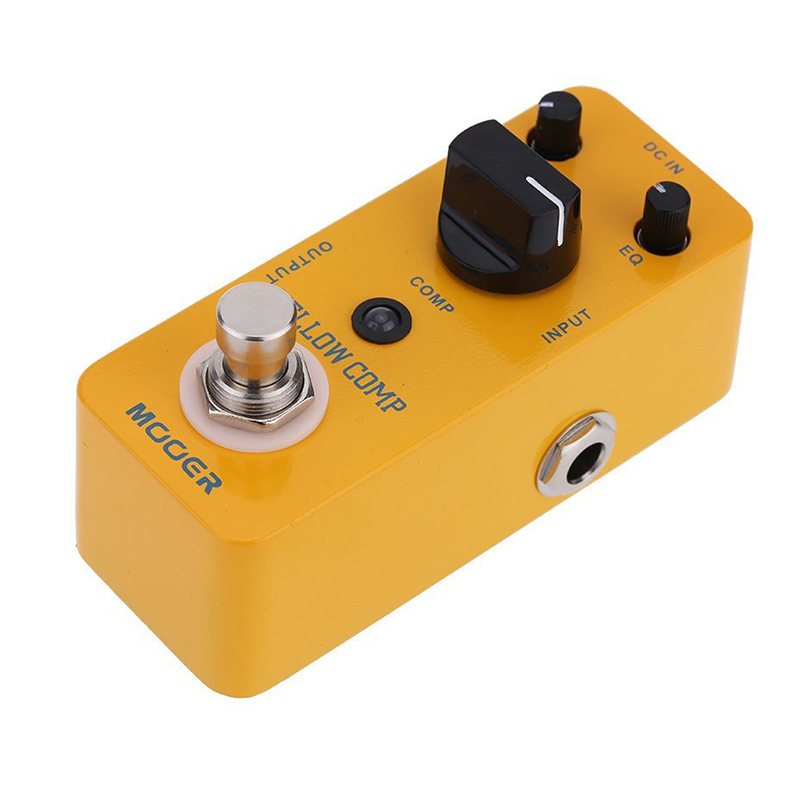 Yellow Comp Micro Mini Optical Compressor Effect Pedal For Electric Guitar True Bypass Free Shipping guitar accessories(China (Mainland))