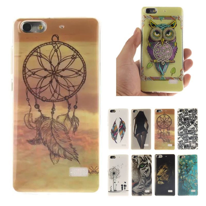 Fashion TPU Slim Silicon cartoon Soft Cell Phone Protector Case Cover sfor Huawei Honor 4C C8818 for Huawei G Play Mini Rubber(China (Mainland))