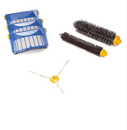 Aerovac Filter+3 Arms Side Brush+Bristle and Flexible Beater Brush for iRobot Roomba 620 630 640 650 660(China (Mainland))