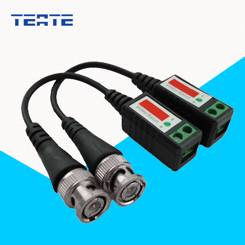 TEATE BNC Cable Cat5 for CCTV Video Twisted CCTV UTP Video Balun Passive Transceivers Max Distance 2000FT UTP Balun TE-G03CAB(China (Mainland))