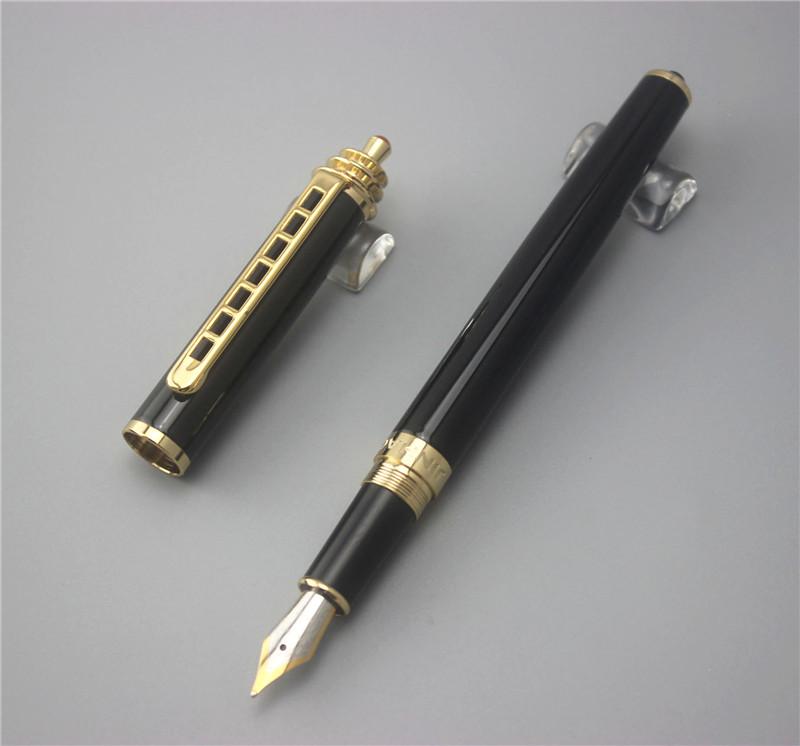 black JINHAO free shipping fountain pen High quality man women pens business school gift send teacher student 026(China (Mainland))