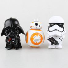 Star Wars The Force Awakens Darth Vader First Order Stormtrooper BB8 BB-8 12cm Darth Vader Stormtrooper PVC Action Figures Toys