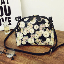 Min Women Printing Shoulder Bag Leather Purse Satchel Messenger Bag Mar24