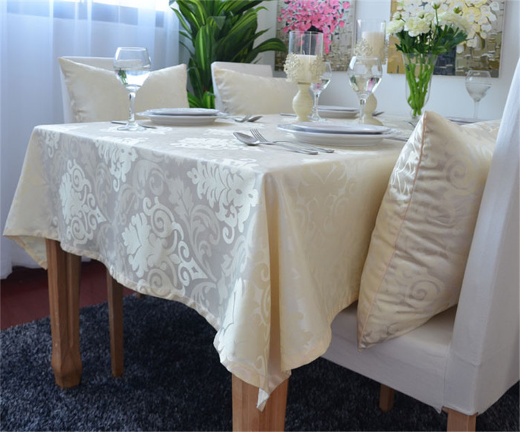 Buy european gorgeous yellow tablecloth for Table salle a manger luxe
