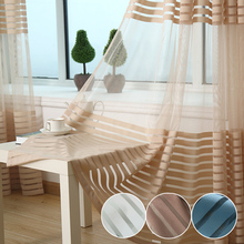 Quality thickening balcony stripe curtains window screening/voile blind/yarn/sheer curtain finished product