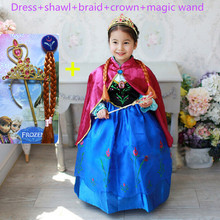 Anna dress girls costumes diamond princess elsa dress disfraz princesa Congelados vestido ana de festa fantasia infantil meninas