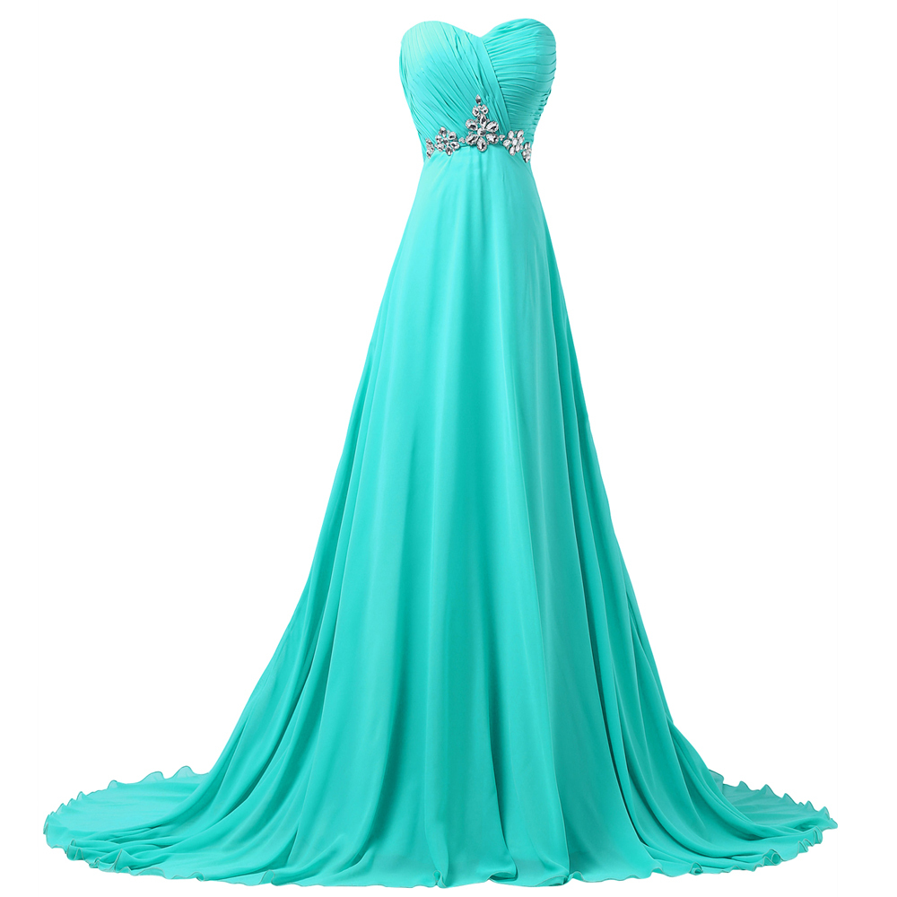 grace karin fast shipping sweetheart turquoise chiffon With turquoise wedding dresses