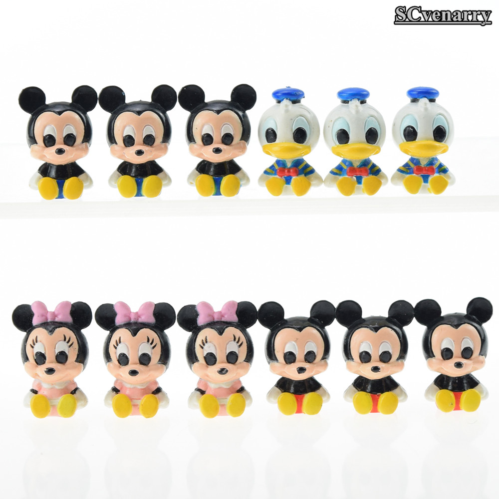 Mickey Mouse Minnie Donald Duck PVC Action Figure Collection Model Toys Kids Toys Doll Gift for Children 12pcs/lot CSDB4(China (Mainland))