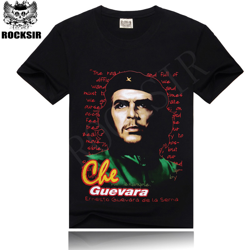 Rocksir Men T Shirt 3D T-Shirt Tshirt Men's Shirt Cotton Heavy Metal Punk Rock Style Che Guevara Printed Summer Fashion Tee(China (Mainland))