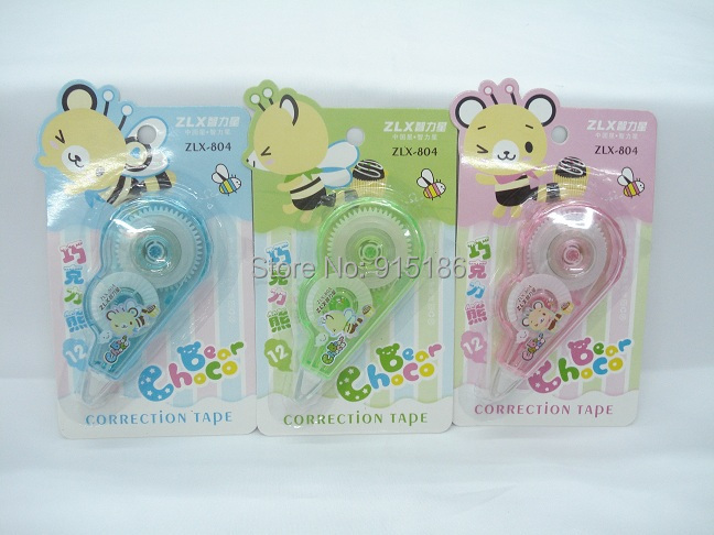 Free Shipping Mixed Colour 48pcs/lot) Plastic Correction Tape Wholesale Factory Price--804(China (Mainland))