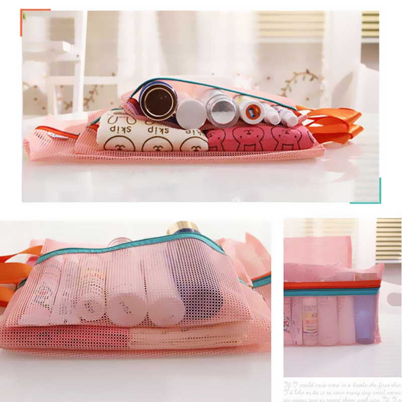 Free Shipping 4 Pieces Set Travel Luggage Packing Mesh Pouch Organizer Bag Shoe Bag Underwear Travel Bag E#CH(China (Mainland))