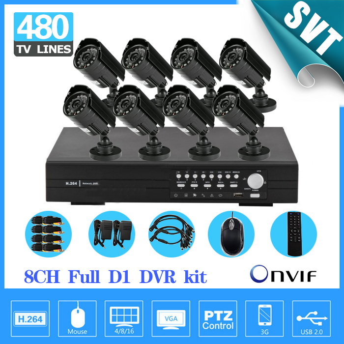 NVR Home 8ch Security Outdoor waterproof day Night Camera,8 channel cctv DVR recorder video surveillance System kit,HDMI 1080P(China (Mainland))