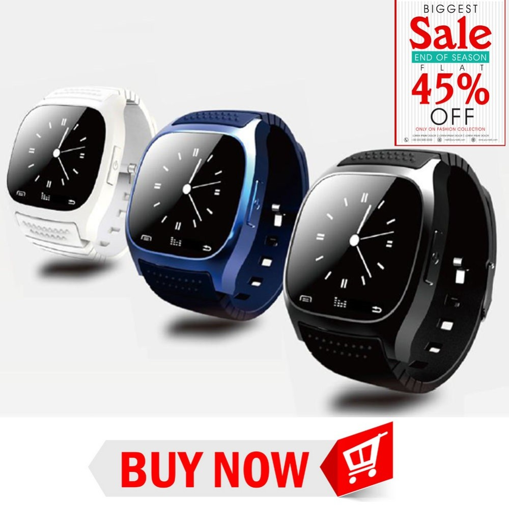 Bluetooth Smart Watch luxury wristwatch M26 R watch smartwatch with Dial SMS Remind Pedometer for Android