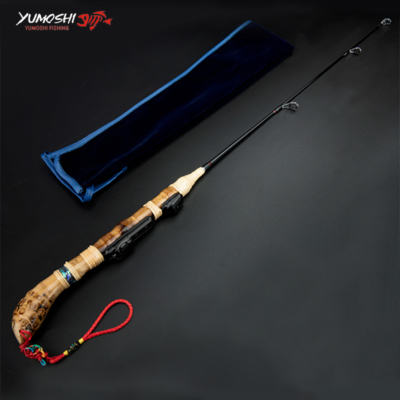 NEW 60cm Carbon Spinning Fishing Rod Outdoor Portable Short Section Fishing Rod Chinese Knot Anti-lost Hand Rope Fishing Rod(China (Mainland))