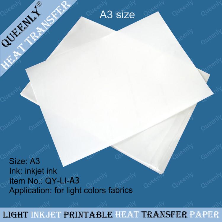 Light inkjet heat transfer paper inkjet t shirt transfer 100 sheets per pack(China (Mainland))