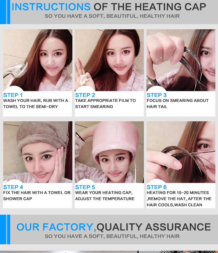 Electric Heating Cap Evaporation Cap Hair Care Inverted Film Home Baked Oil Cap Hair Dye Hair Cap For Hair Coloring Voltage 110v