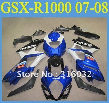 BODYWORK FAIRING SUZUKI GSX R1000 GSXR 1000 07-08 Blue and White OEM color