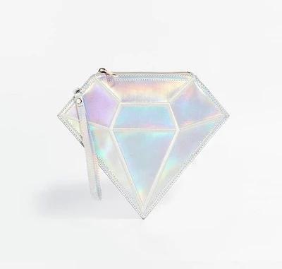 2016 New design hologram bag HARAJUKU laser silver diamond day clutch for women <br><br>Aliexpress