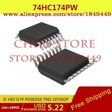 Smart Electronics Integrated Circuit 74HC174PW,112 IC HEX D FF POSEDGE TRIG 16TSSOP 74HC174PW HC174 74HC1 - Chips Store store