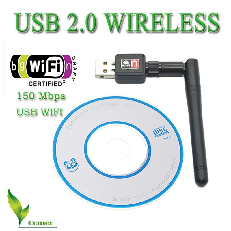 2pcs/lot Best Mini 150M USB WiFi Adapter Wireless Network Networking Card LAN WIFI Adapter for computer USB WIFI Antenna(China (Mainland))