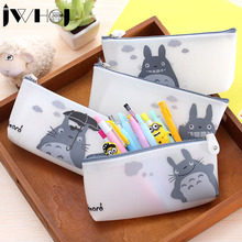 Buy 1x lovely totoro zip Pencil Bag kawaii rubber Pencil Case School Supplies Cosmetic Bag children gift stationery Free for $1.79 in AliExpress store