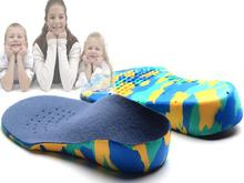 Kids Children EVA orthopedic insoles for children shoes flat foot arch support orthotic Pads Correction health feet care 2014(China (Mainland))
