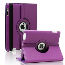 Hot sale Fashion 360 Rotate PU Leather Smart Stand Flip Case For iPad 4 for iPad 3 for iPad 2 Rotating Cover(China (Mainland))