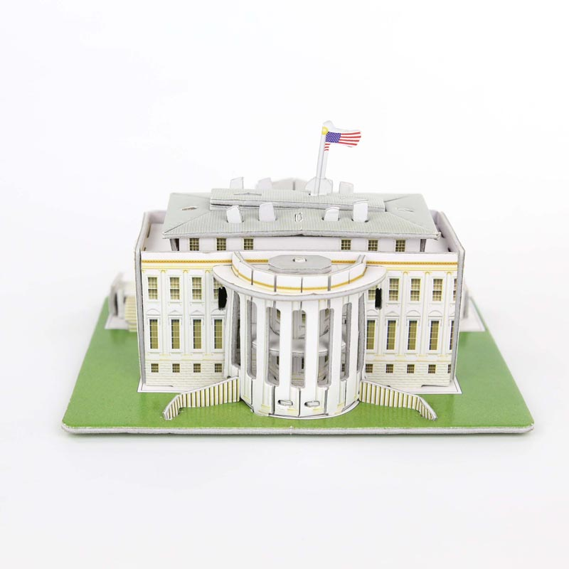 DIY Puzzle The White House Castle 3D Puzzle Toy Paper Model Creative Toy For Children's Birthday Gift House Model Building(China (Mainland))