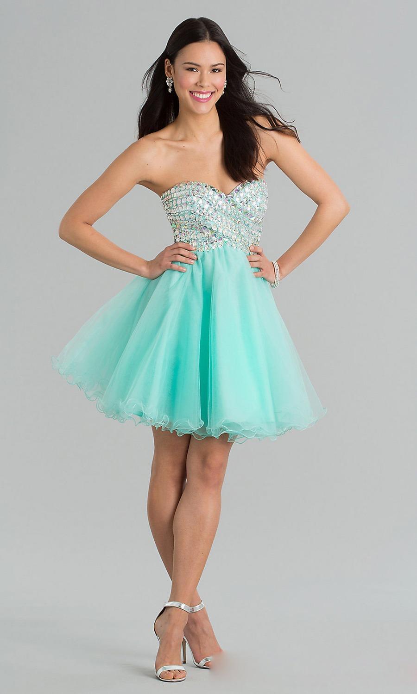 Glaring crystal mint green short prom dresses sweetheart mini puffy homecoming dresses vestido