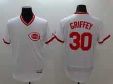 Mens #30 Ken Griffey #21 Deion Sanders #19 Joey Votto reds Jersey Color Red White Throwback Jerseys(China (Mainland))