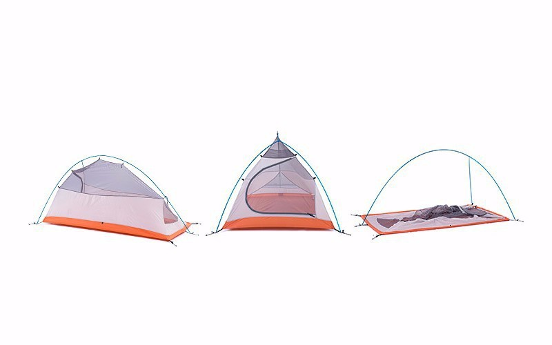 2015DHL free shipping 2 Person NatureHike Tent 20D Silicone Fabric Double-layer Camping Tent Light weight tent 09
