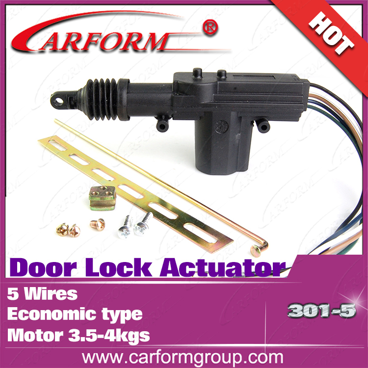 Car Door Lock Actuator Central locking actuator For 12V Economic type with nails 5 wire actuator CF301-5 Free shipping 10pcs/lot(China (Mainland))