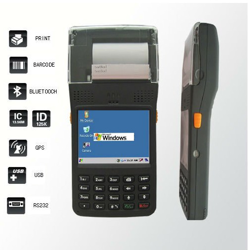 LS350T Industrial Protable Handheld Data Collector PDA Terminal Scanner Printer RFID Reader Mobile Computer(China (Mainland))