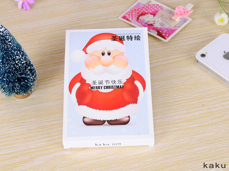 PD003 Christmas Rhapsody theme paragraph Packed postcards Greeting Cards creative postcards drawer card 60 pcs/set(China (Mainland))