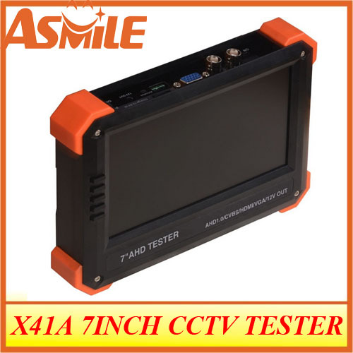 New CCTV AHD Camera Tester 7inch LCD Analog Video Test 12V Power Output Cable Test Ahd Cctv Tester for X41A(China (Mainland))