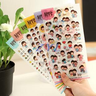 2015 Special Offer New Vinilos Home Decoration C452 's Innocence Pvc Sticker Diary Decorative Stickers Affixed 1set=6pcs(China (Mainland))
