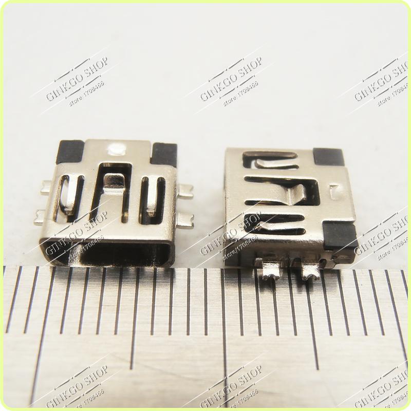1000PCS Mini usb 5P 5-pin Jack Mini USB Connector port short sink type<br><br>Aliexpress