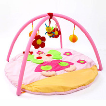 Actionclub Baby Boys Girls Velvet Play Mat For Kids Toy Tapete Infantil Educational Crawling Gym Mat Foldable Music Game Carpet(China)