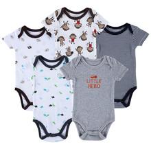 New 2016 Brand Baby Bodysuits Short Sleeve Babies Newborn Cotton Body Baby Next Infant Boy & Girl Clothing set(China (Mainland))