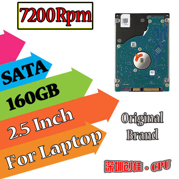 """2.5"""" SATA 160GB 160g 7200RPM 8MB Internal Hard Disk Drive for laptop notebook all brands Free Shipping screw driver free 7200(China (Mainland))"""