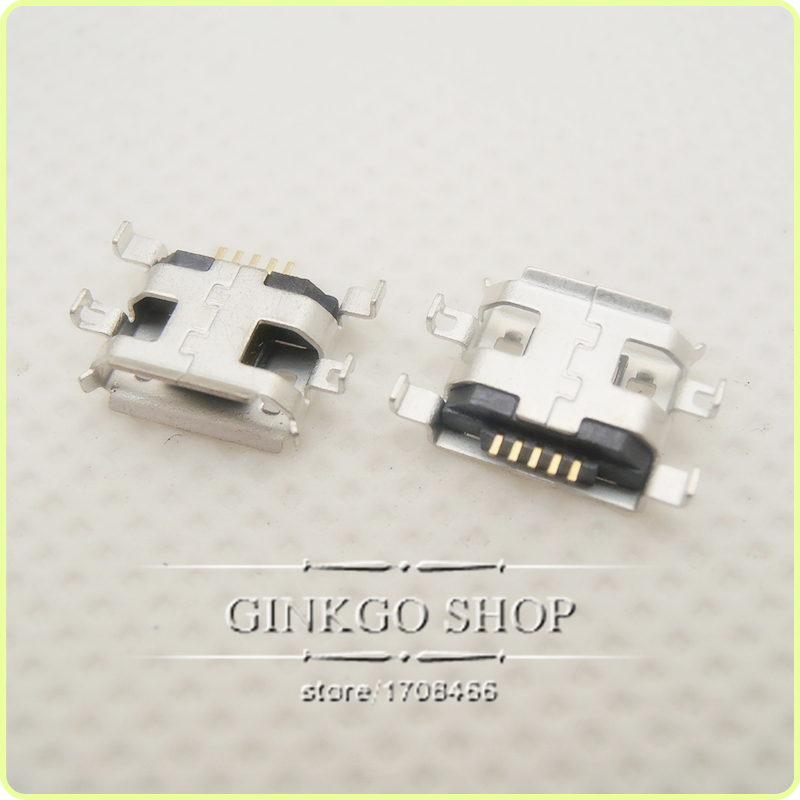 Free shipping Micro USB Connector charging Jack DIP 5P port USB sockect with edge curl hole<br><br>Aliexpress