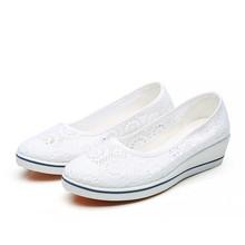 Дышащая Белая обувь для медсестер на полой подошве, обувь для медицинских лабораторий, мягкая Женская рабочая обувь(China)