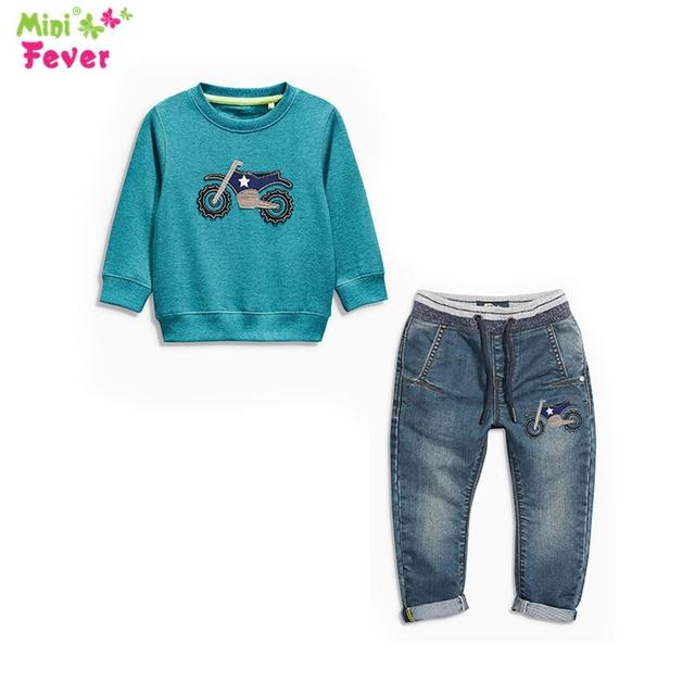 Свободного покроя детская для осени мальчика комплектов одежды хлопка мальчик 2 шт. ...